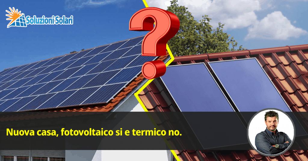 energia solare fotovoltaica si energia solare termica no