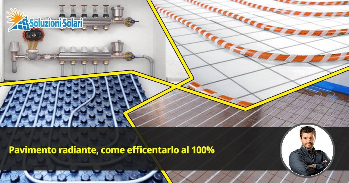 impianto di riscaldamento a pavimento radiante