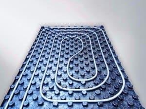 pavimento radiante esempio di pannello radiante bugnato